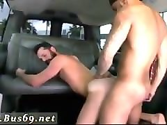 Amateur, Anal, Cinema, Brother talks drunk sister into blowjob