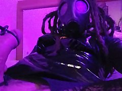 Boots, Electro, Mask, Electro orgasm shemale